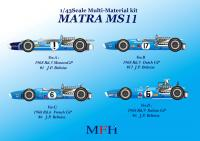 1:43 Matra MS11 ver.B Multi-Media Model Kit