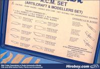 A.C.M. Set Modellers Knife Set
