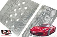 1:24 Ferrari F430 Challenge Photoetched Detail Up Set - Fujimi
