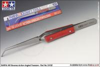 HG Angled Tweezers - Reverse Action - 74102
