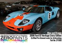 2006 Ford GT Heritage Livery Edition Blue and Orange Paint Set 2x30ml