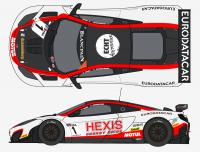 Mclaren MP4-12C GT1 Hexis Racing 2012 Decals for Fujimi