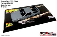 Delorean DMC Back to the Future - Display Base for Model Kits 300x160mm