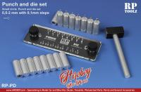 Punch and Die Set (16 different punch tool from 0,5mm to 2mm)