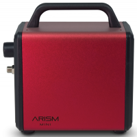 Sparmax ARISM Mini Kit (Burgundy Red Compressor, Sparmax MAX-4 Airbrush and Cleaning Pot)