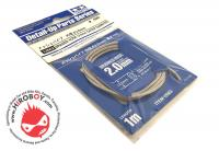 Tamiya Braided Hose 2.0mm Outer Dia #12662