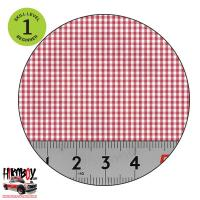 Upholstery Pattern Decals - Plaid pattern (Red & White) Pattern 4
