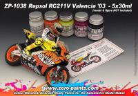 Repsol RC211V Valencia 2003 Paint Set 5x30ml