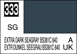 Mr Color Paint Extra Dark Seagray BS381C 640 10ml # C333