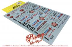 1:20 Lotus 72D Lucky Strike 1971-73 Decals (Ebbro)