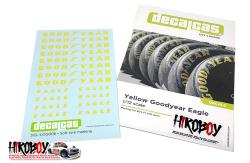1:12 Yellow Goodyear Eagle Tyre Decals