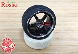 "1:12 18"" Volk Racing TE37 SL Wheels for Fujimi Nissan Skyline R32 GT-R"