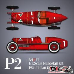 1:12 Alfa Romeo P2 1924 Italian GP/French GP- Full Detail Multi Media Kit