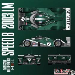 1:12 Bentley Speed 8  - Le Mans 2003