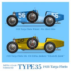 1:12 Bugatti Type 35 (1928 Targa Florio) Full Detail Multi-Media Kit