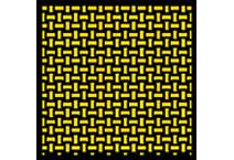 1:12 Carbon Kevlar DecalBasket Weave Yellow/Black #1312