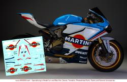 1:12 Ducati 1199 Martini Racing Decals for Tamiya