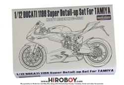 1:12 Ducati 1199  Super Detail-up Set (Resin+PE+Metal parts) (Tamiya)