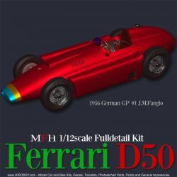 1:12 Ferrari D50 Ver.B : 1956 Rd.5 French GP #16 A.Portago / T-car