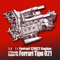 1:12 Ferrari 126C2 Engine Kit Tipo 021