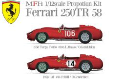 1:12 Ferrari 250 TR 1958 - Crubside Multi Media Kit
