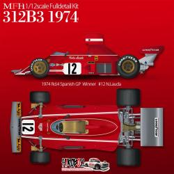 1:12 Ferrari 312B3 [1974 Rd.4 Spanish GP / Rd.5 Belgian GP] Full Detail Multi Media Kit