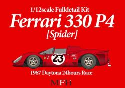 1:12 Ferrari 330 P4 (Spyder) Ver A '67 Daytona 24 hours #23 Full Multi Media Kit