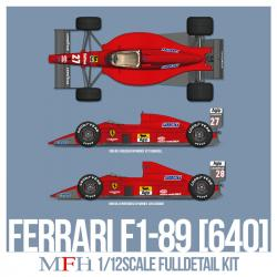 1:12 Ferrari F1-89 (640)  Ver.C : Late Type (Full Multi Media Kit)