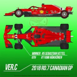 1:12 Ferrari SF71H Ver. C Rd.7 Canadian GP Winner