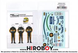 1:12 Figure Decal Ayrton Senna (Lotus)