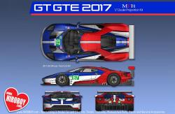 1:12 Ford GT 2017 Le Mans 24 hours Race Team U.K. #66/#67 / Team U.S.A. #68/#69
