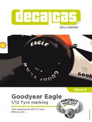 1:12 Goodyear Tyre Marking Set - 1980 - 1989 Decals