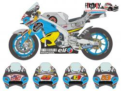 1:12 Honda RC213V Team Marc VDS 2016 N. Hayden / J. Miller / T. Rabat - 1/12 Resin/Decals (for Tamiya)