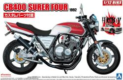 1:12 Honda CB400 Super Four 1992 c/w Custom Parts