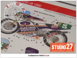 1:12 Honda NSR250 #8 1990 Dominique Sarron Decals