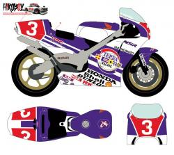 1:12 Honda NSR 500 #3 All Japan Championship 1989 Decals