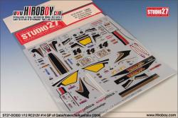 1:12 Honda RC212V Team LCR #14 GP of Qatar/Valencia/Australia (2009) Decals