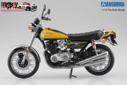 1:12 Kawasaki 900 Super 4 (Z1) Yellow Ball (Pre-Built Model)