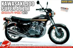 1:12 Kawasaki 900 Super 4 Z1 c/w Custom Parts Motorcycle Model Kit