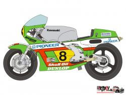 1:12 Kawasaki KR500 1982 Decals for Tamiya 14028