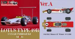 1:12 Lotus 49B Full Detail Kit : Ver.A : 1968 Rd.3 Monaco GP Winner #9 G.Hill