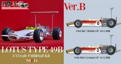 1:12 Lotus 49B Full Detail Kit : Ver.B : 1968 Rd.7 British GP #8, Rd.8 German GP #3 G.Hill