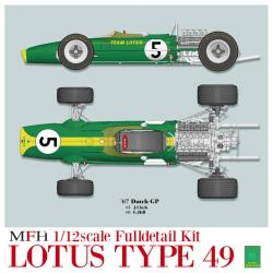 1:12 Lotus Type 49 Ver.B : Late Type  -  Full Detail Kit