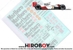 1:12 McLaren MP4/5B Full Decal for MFH
