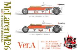 1:12 Mclaren M26 - Ver.A : 1977 Rd.10 British GP / Rd.16 Canadian GP / Rd.17 Japanese GP #1 J.Hunt / #2 J.Mass