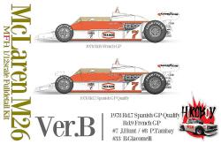 1:12 Mclaren M26 - Ver.B : 1978 Rd.7 Spanish GP Qualify / Rd.9 French GP #7 J.Hunt / #8 P.Tambay / #33 B.Giacomelli