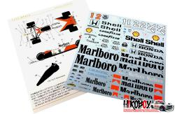 1:12 Mclaren MP4/6 Decals (for Tamiya)