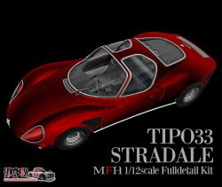 1:12 Alfa Romeo Tipo 33 Stradale 'Full Detail Multi Media Kit'