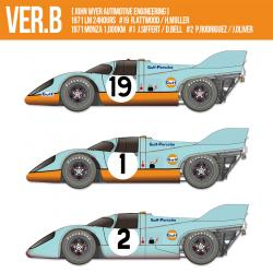 1:12 Porsche 917K - Ver B 1971 Gulf  [John Wyer Autimotive Engineering] 1971 LM 24hours #19 R.Attwood / H.Muller 1971 Monza 1,000km #1 J.Siffert / D.Bell #2 P.Rodriguez / J.Oliver