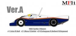 1:12 Porsche 956 Ver.A 1983 Sarthe 24hours race #3 Multi Media Kit